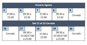 Cambio de horario en Agosto - Clínica dental en Sevilla